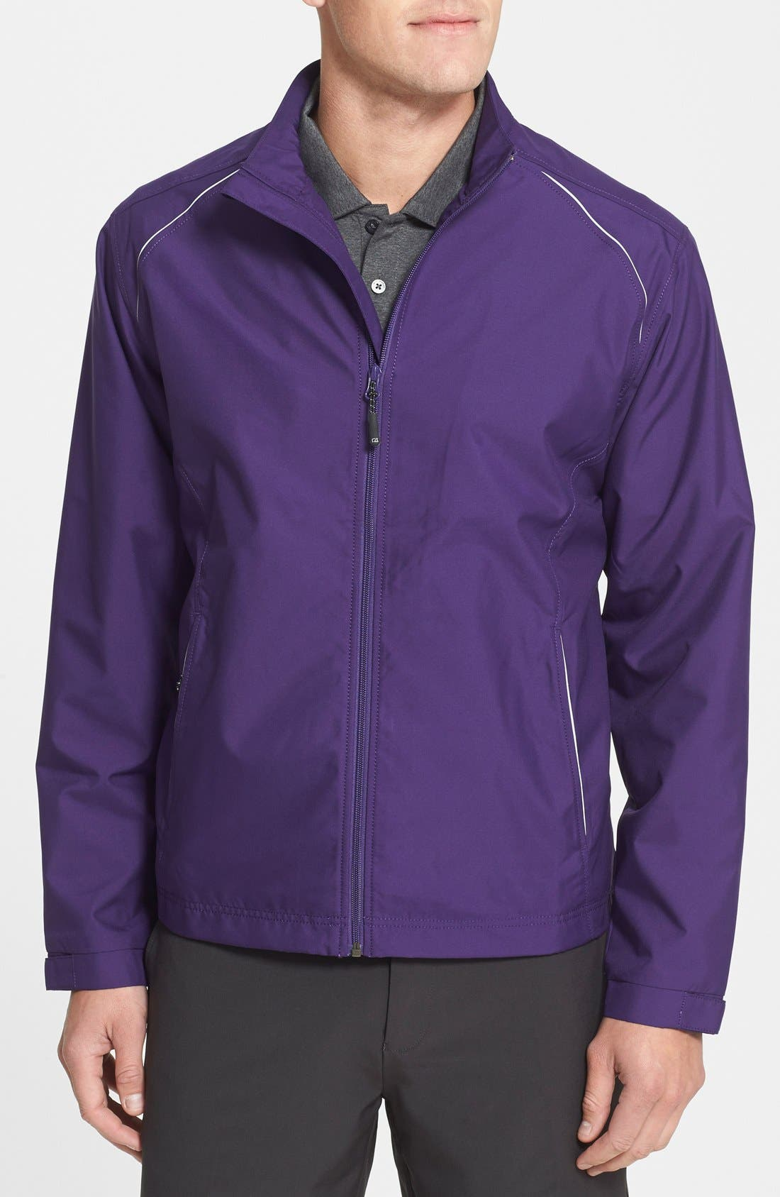 WeatherTec Beacon Water Resistant Jacket,                             Main thumbnail 1, color,                             College Purple