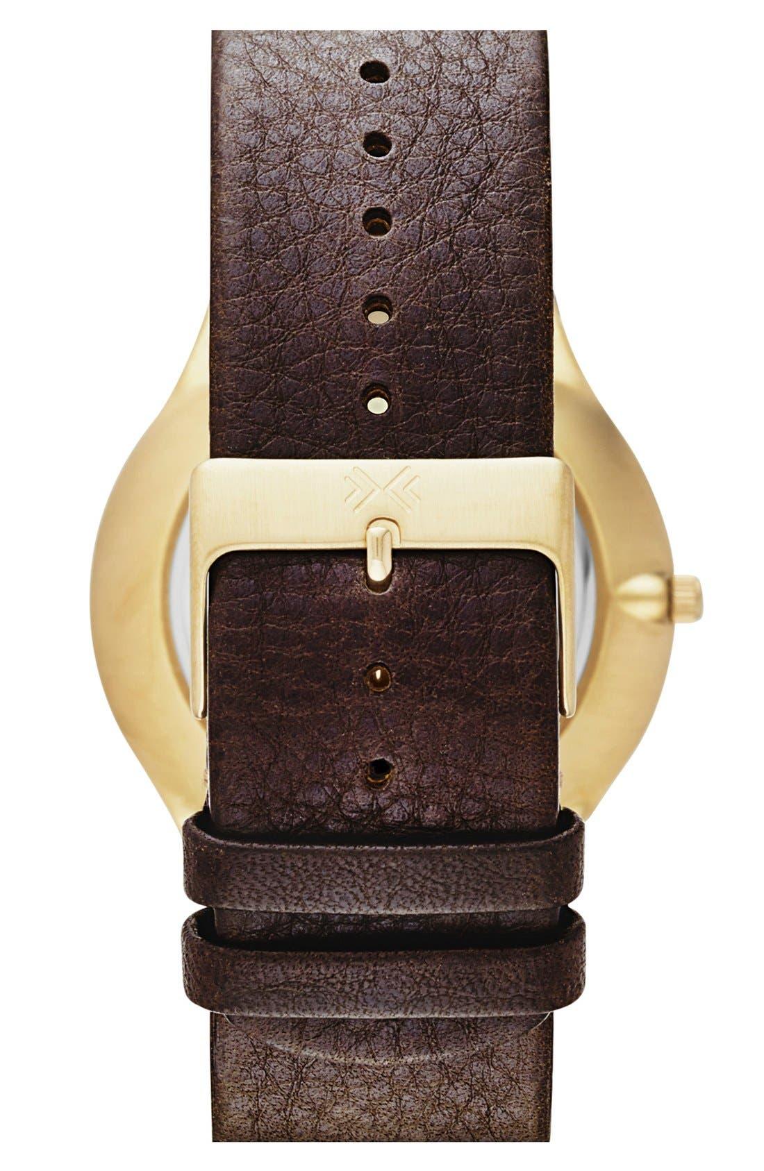 Alternate Image 2  - Skagen 'Grenen' Multifunction Leather Strap Watch, 41mm