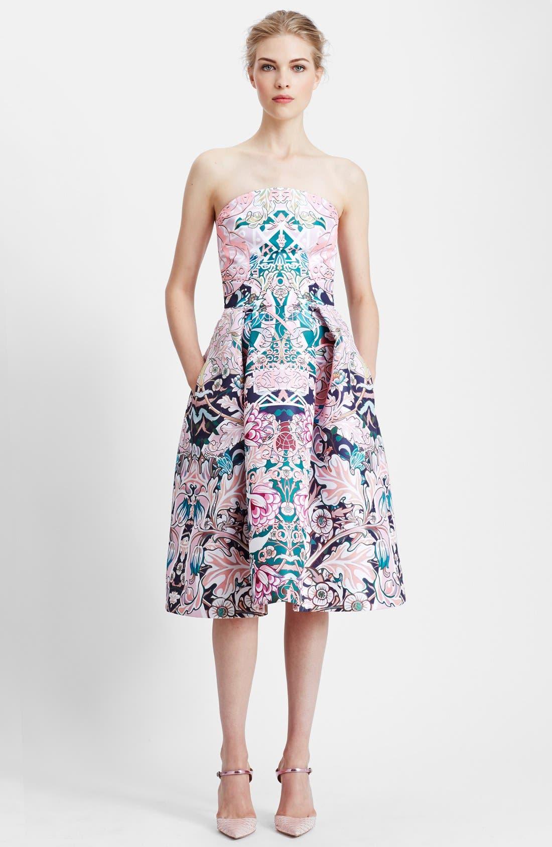 Main Image - Mary Katrantzou Print Strapless Fit & Flare Dress