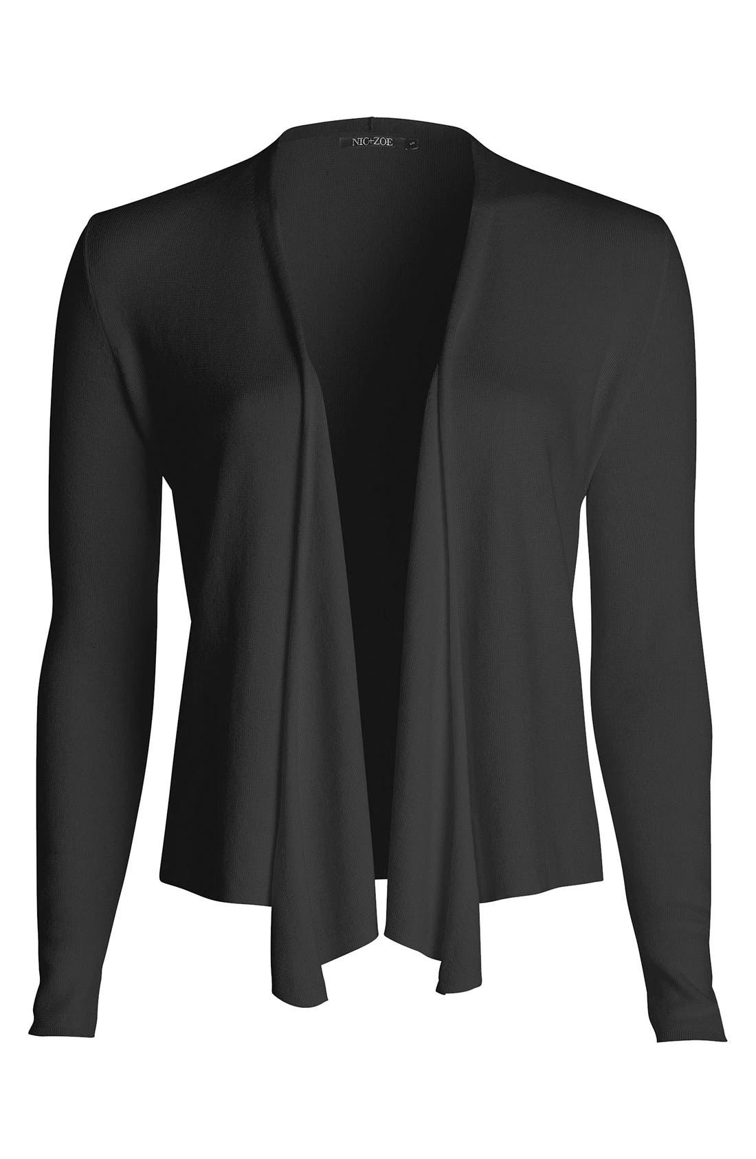 Four-Way Convertible Cardigan,                             Alternate thumbnail 4, color,                             Black Onyx
