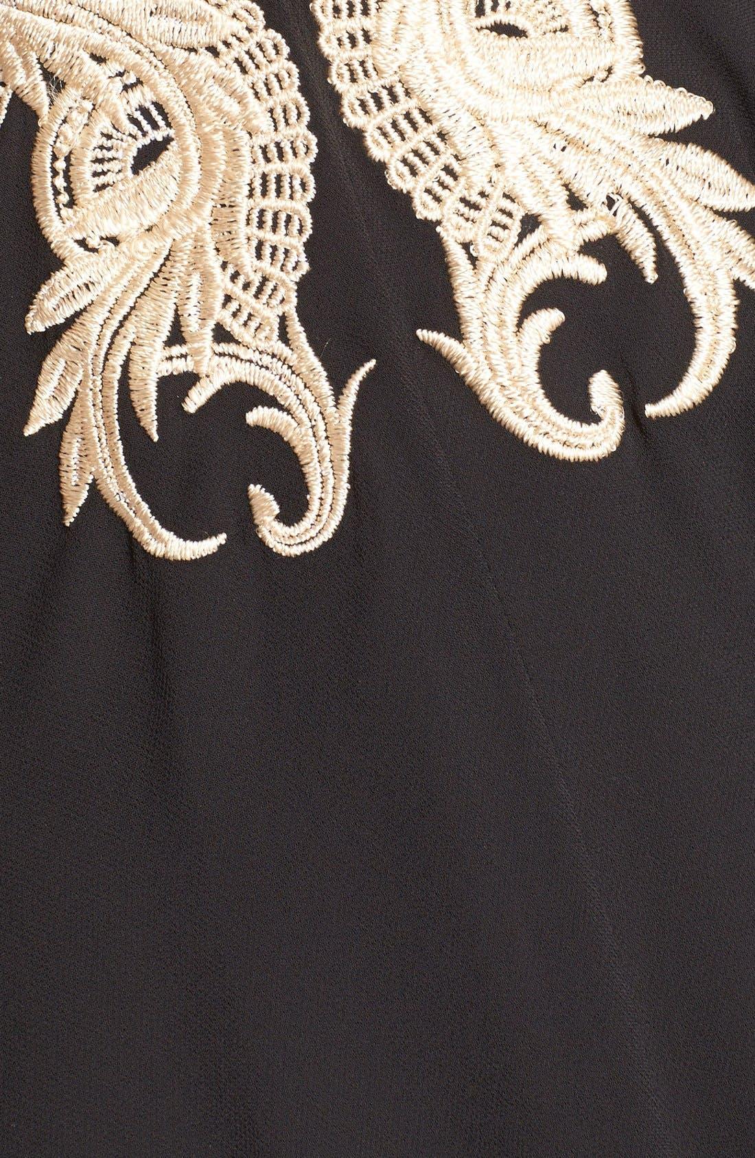 Alternate Image 3  - Ted Baker London 'Gaenor' Embroidered Fit & Flare Dress