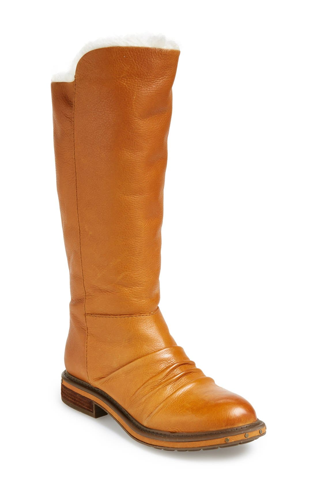 Main Image - Naya 'Raptor' Leather Tall Boot (Women) (Wide Calf)