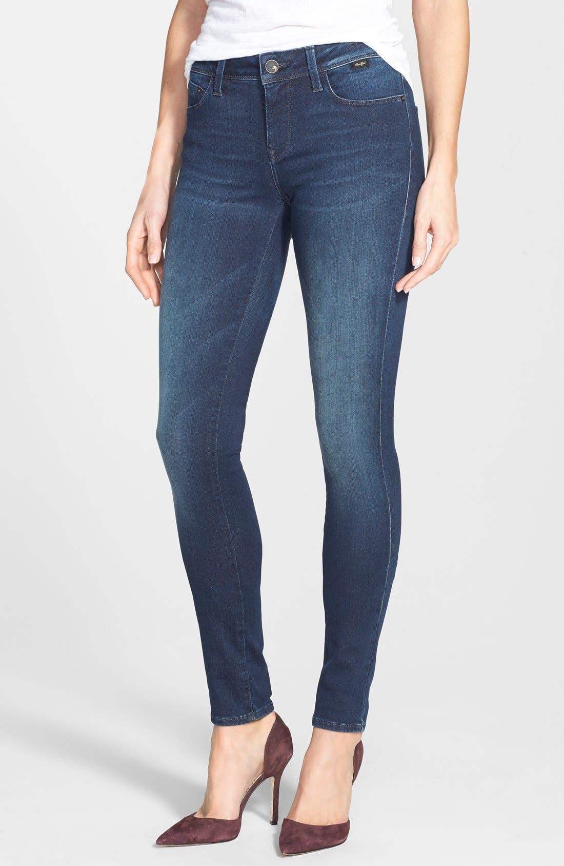 Alternate Image 1 Selected - Mavi Jeans Gold 'Alexa' Stretch Skinny Jeans (Deep Reform)