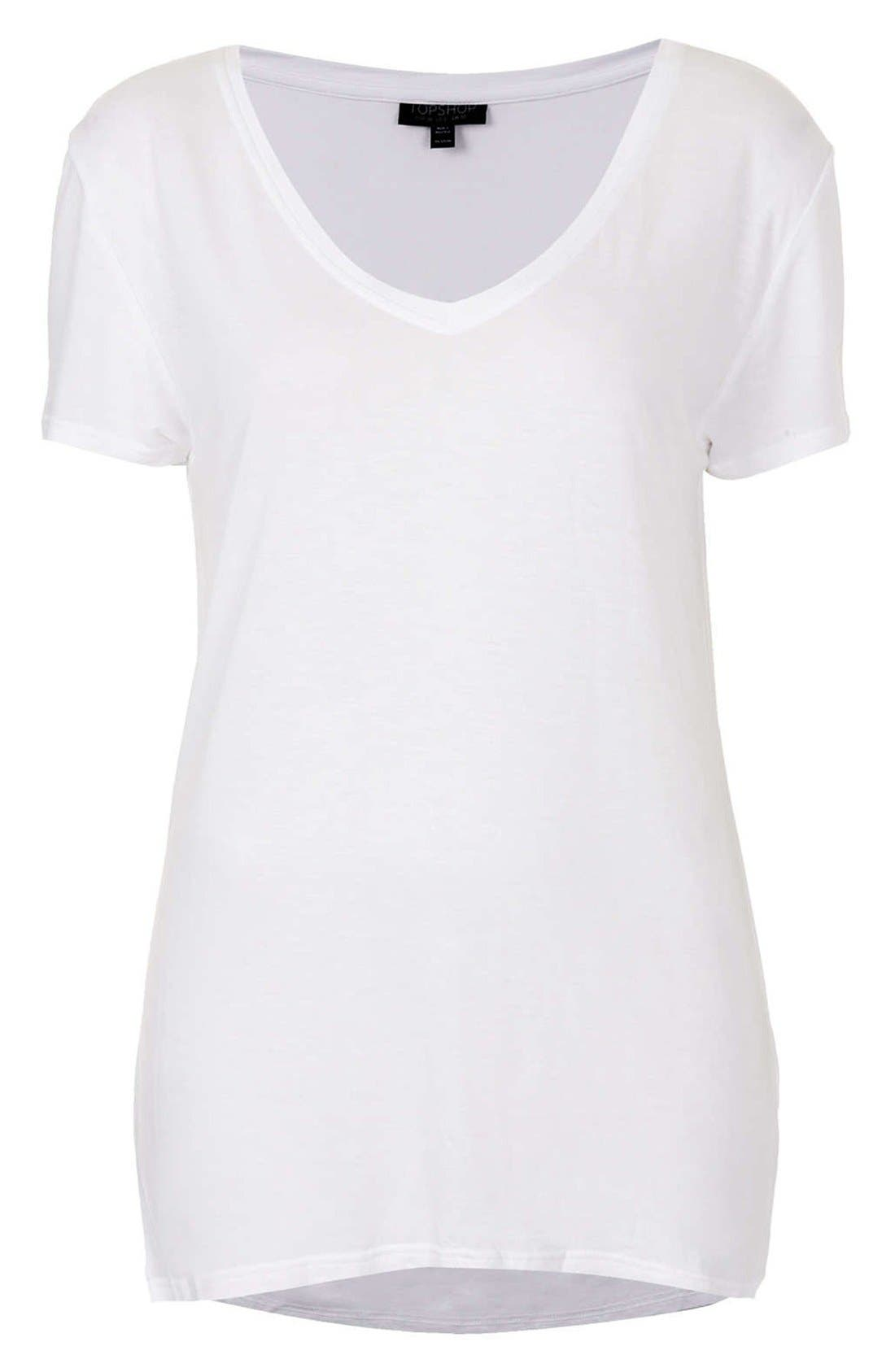 Alternate Image 3  - Topshop V-Neck Tee