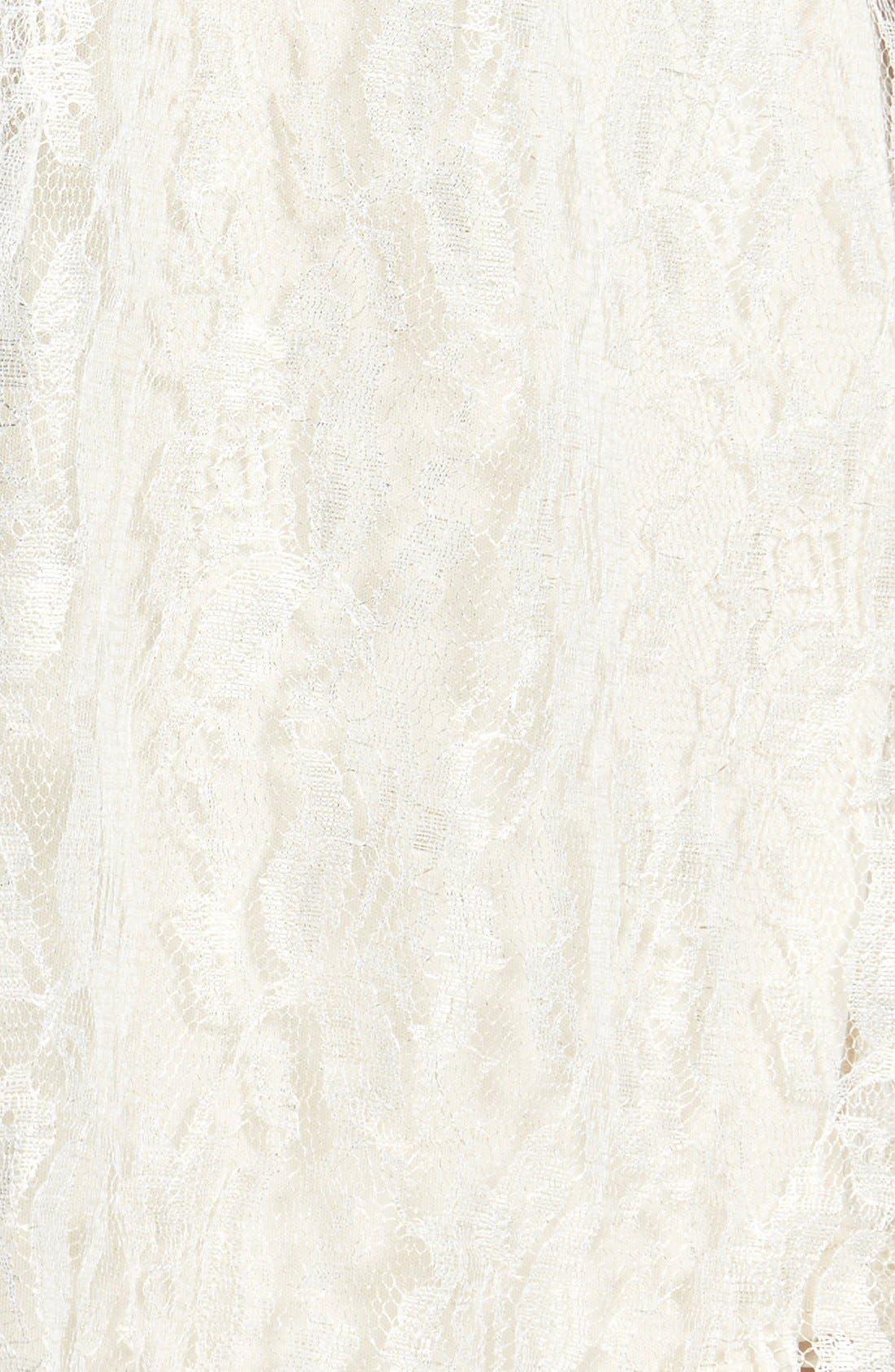 Alternate Image 3  - Frenchi® 'Lace Shine' Midi Skirt (Juniors)