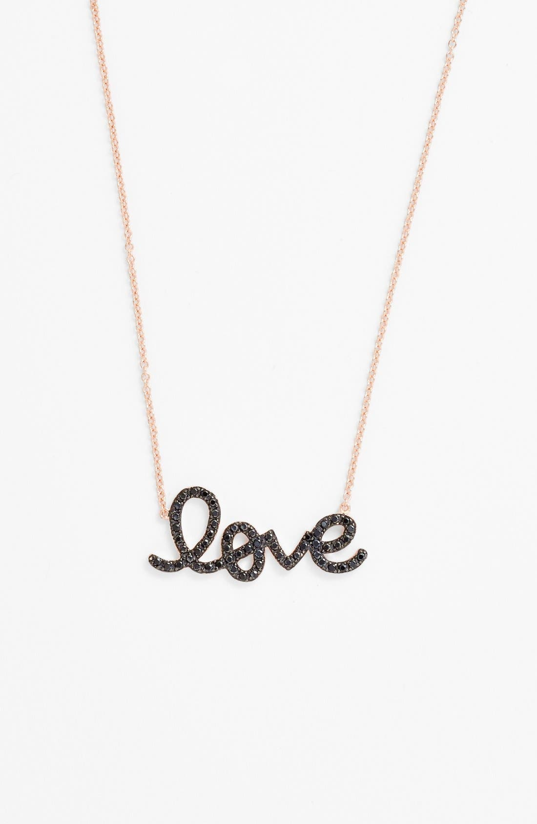 Alternate Image 1 Selected - Sugar Bean Jewelry 'Love' Pendant Necklace