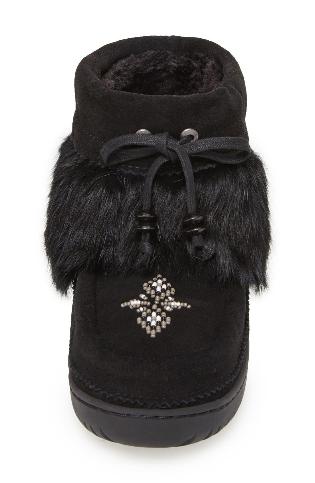Alternate Image 3  - Manitobah Mukluks 'Keewatin Mukluk' with Genuine Rabbit Fur Collar Bootie (Women)