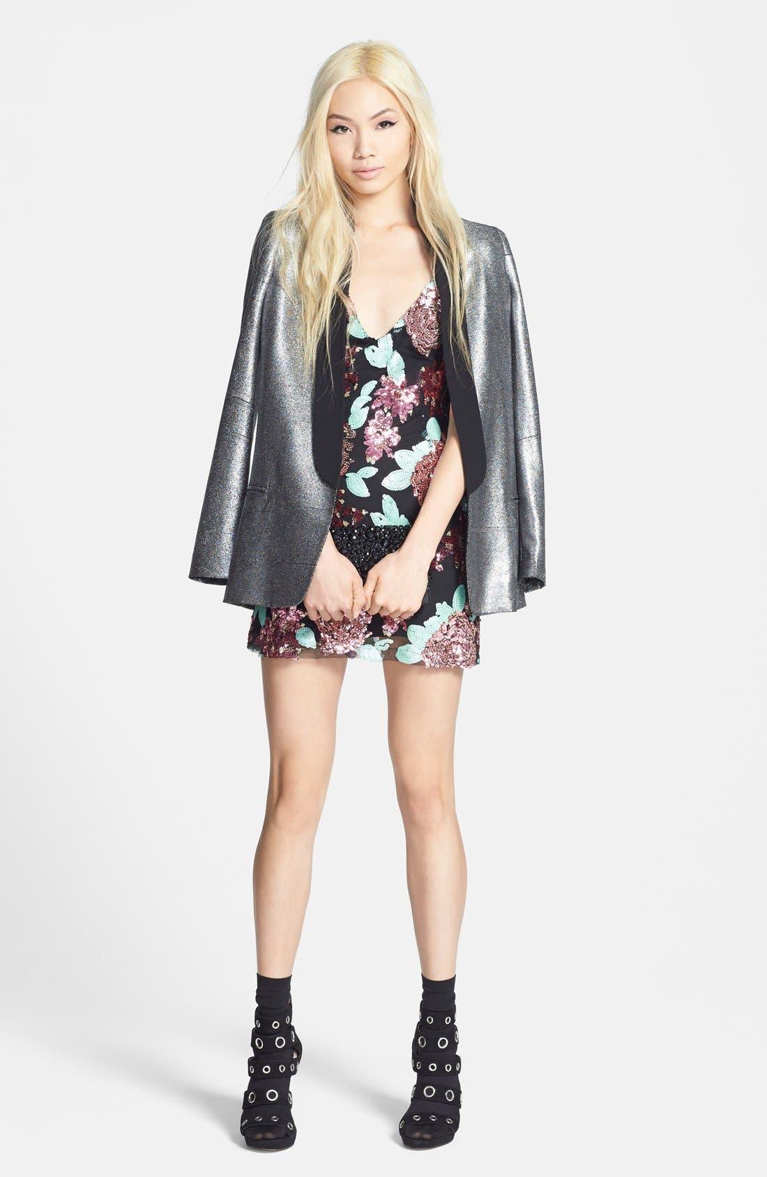Alternate Image 4  - Glamorous Sequin Flower Shift Dress