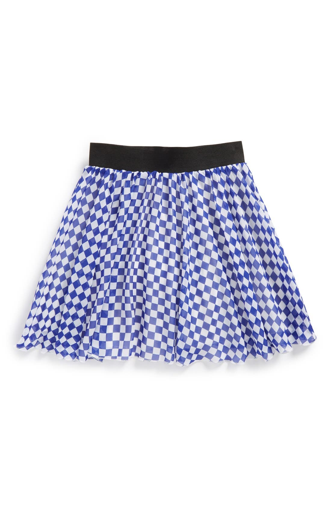 Alternate Image 1 Selected - Un Deux Trois Chiffon Skater Skirt (Big Girls)(Online Only)
