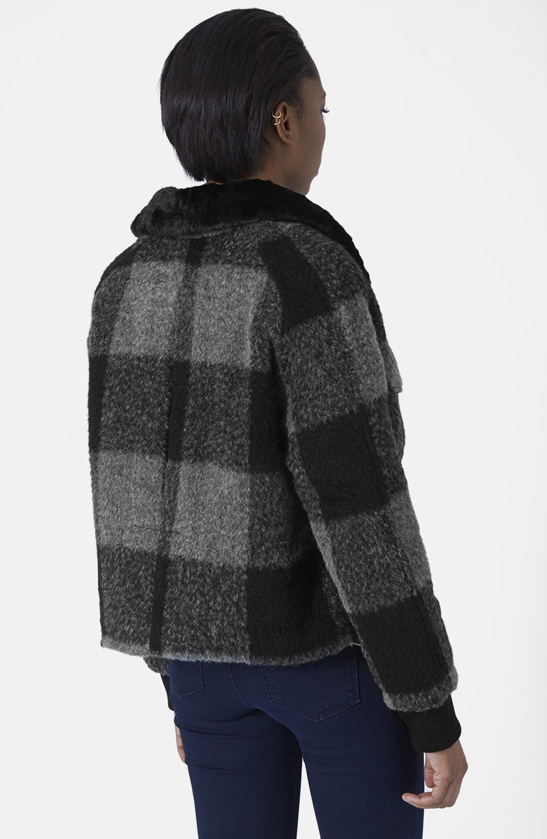 Alternate Image 2  - Topshop 'Harrington' Faux Fur Jacket