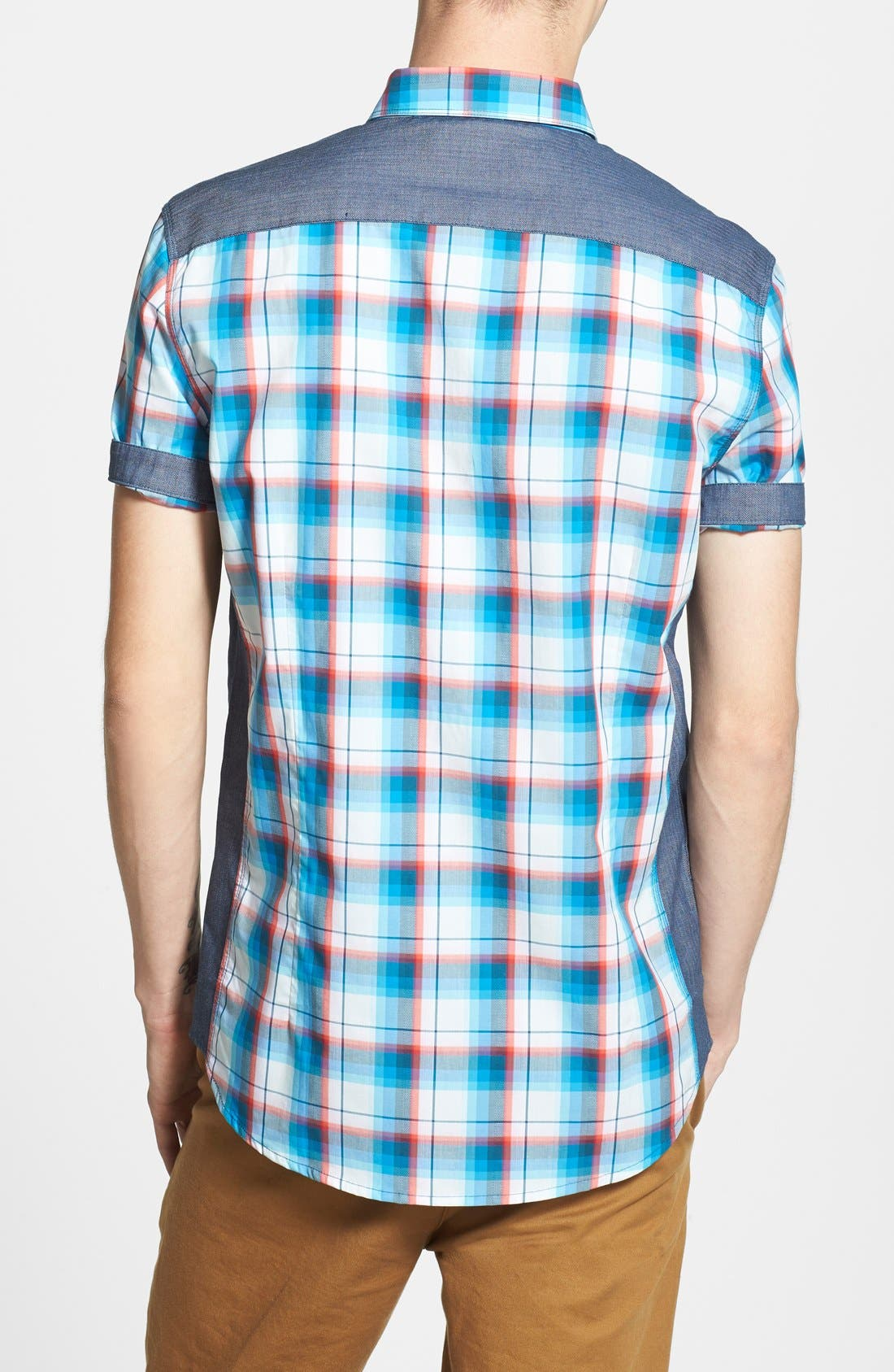 Alternate Image 2  - 7 Diamonds 'Sea of Time' Trim Fit Short Sleeve Plaid Woven Shirt