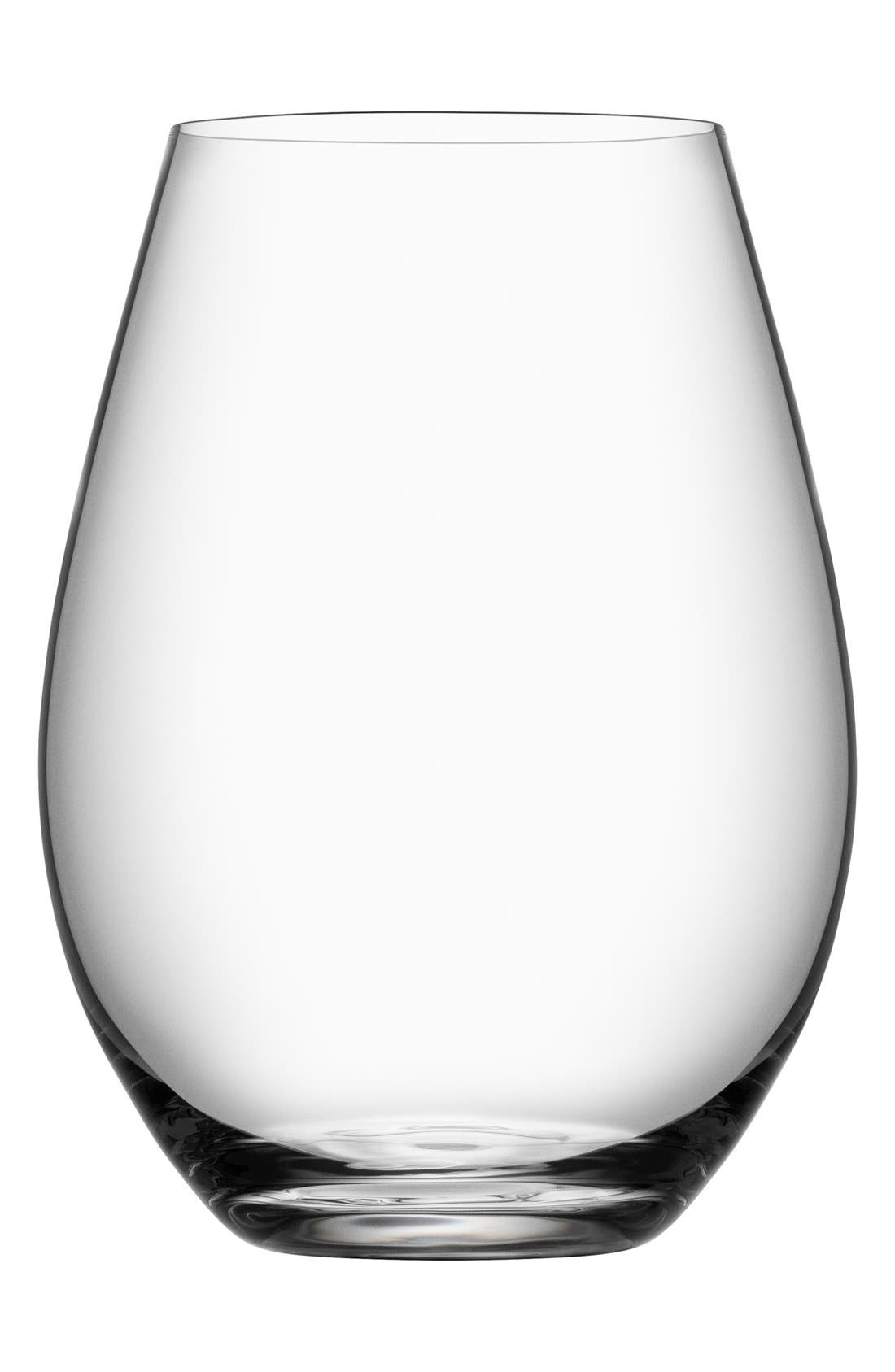 'More' Stemless Wine Glasses,                             Main thumbnail 1, color,                             White