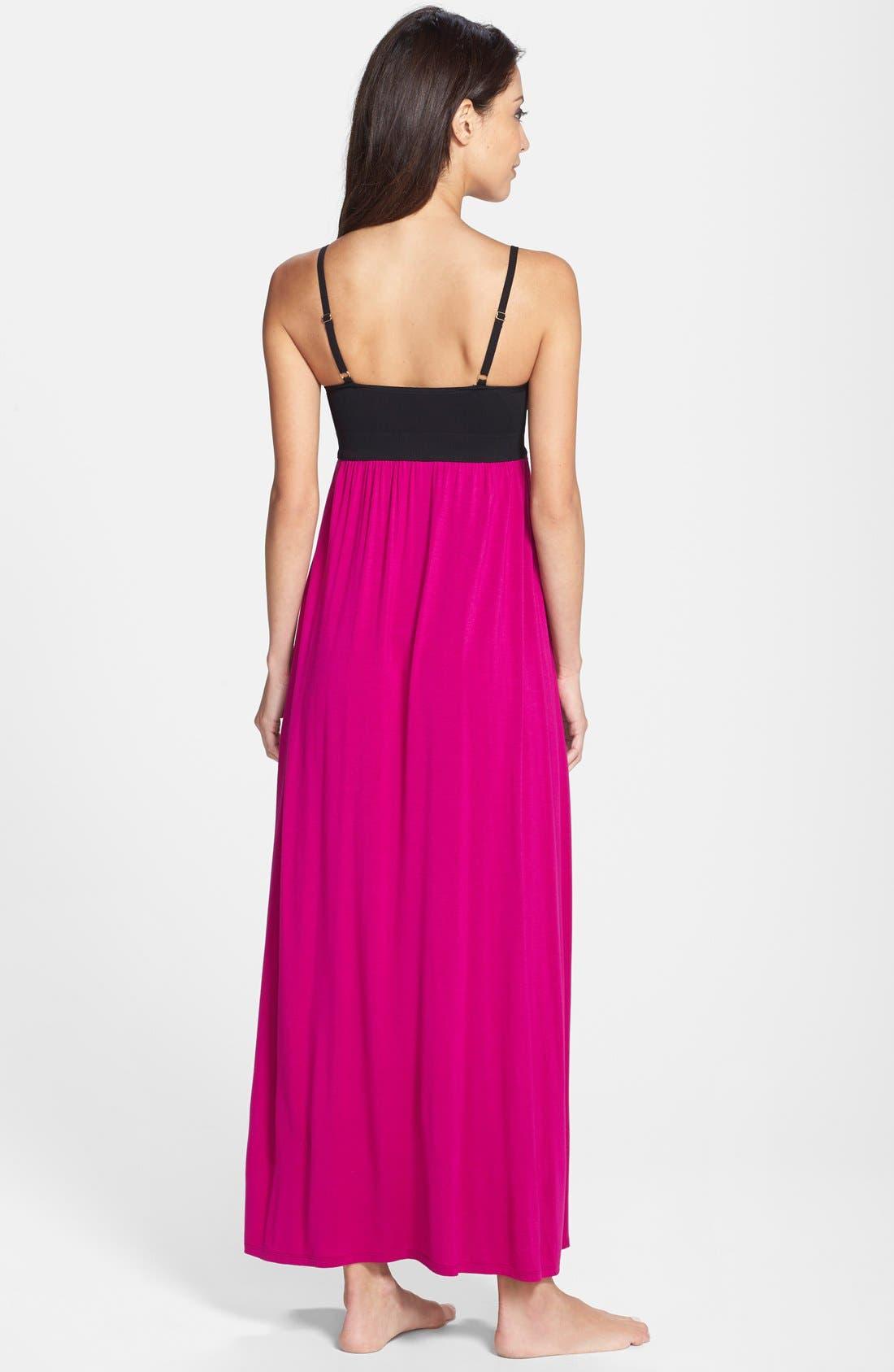 Alternate Image 2  - Donna Karan Liquid Jersey Empire Waist Nightgown