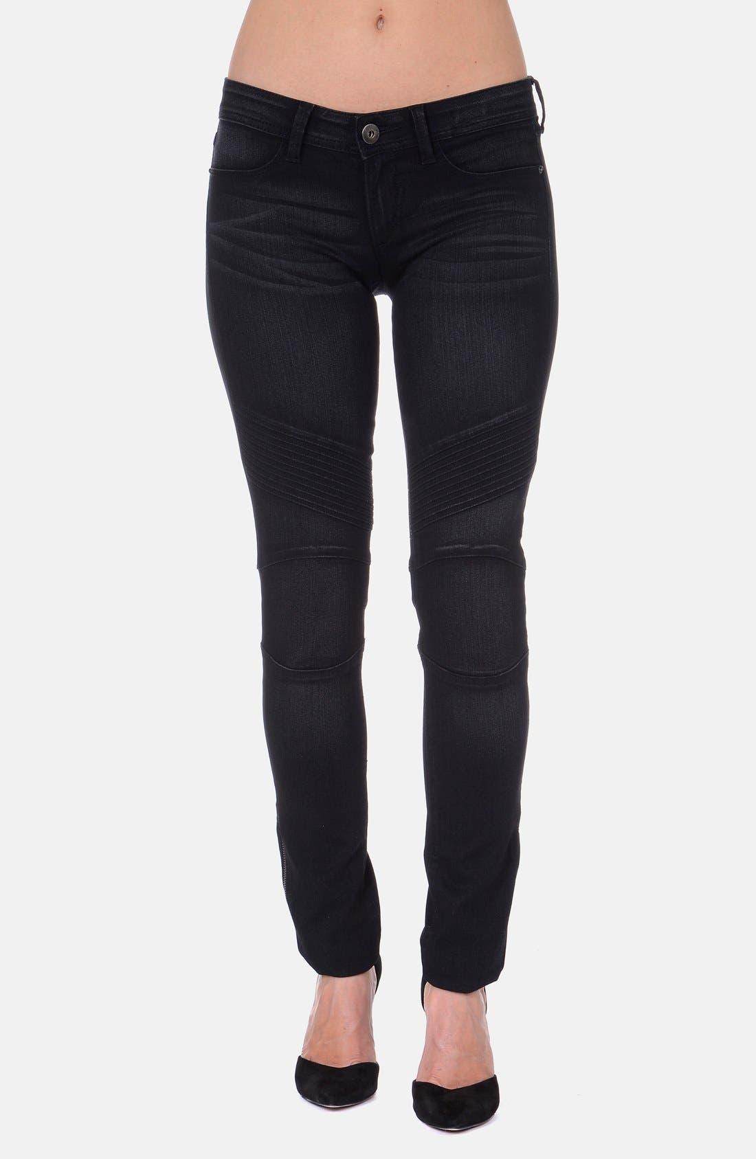 Alternate Image 1 Selected - DL1961 'Hazel' Moto Skinny Jeans (Harley)
