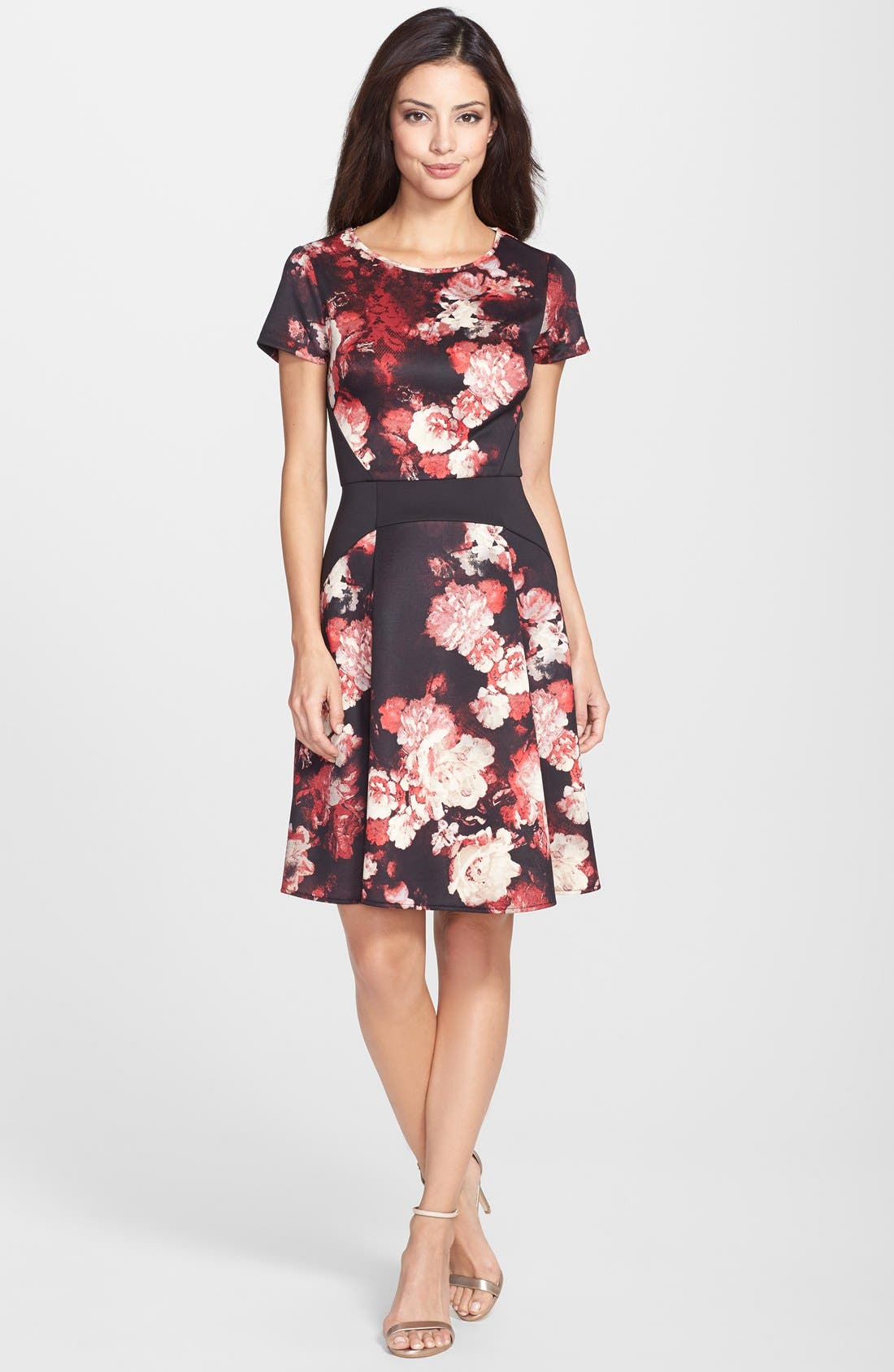 Alternate Image 3  - Adrianna Papell Print Scuba Fit & Flare Dress