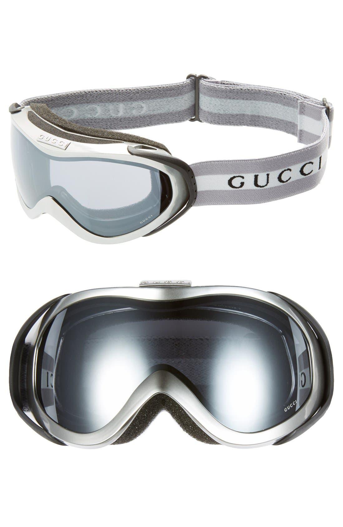 Ski Goggles,                             Main thumbnail 1, color,                             Silver