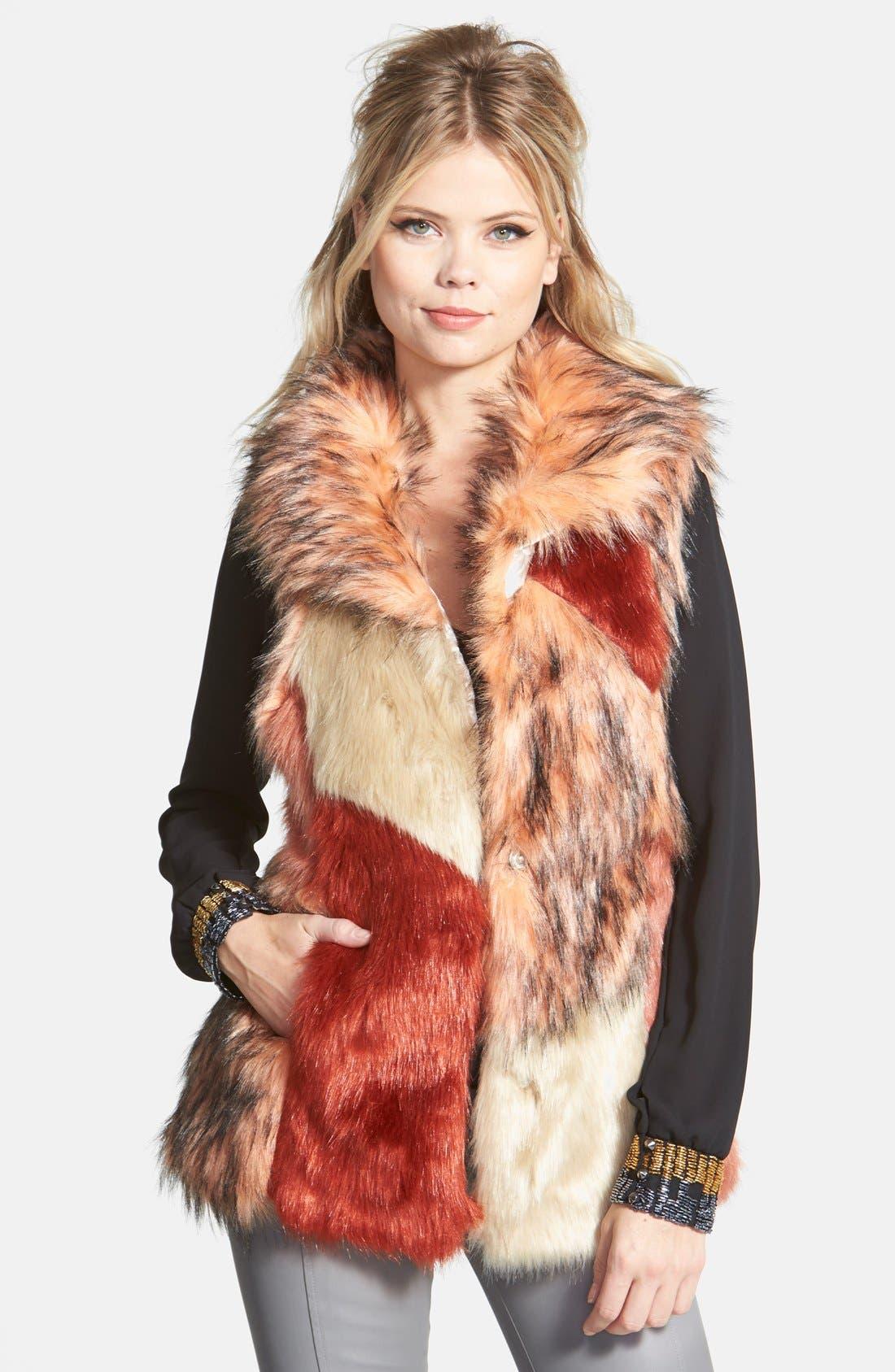 Alternate Image 1 Selected - odyn Faux Fur Vest