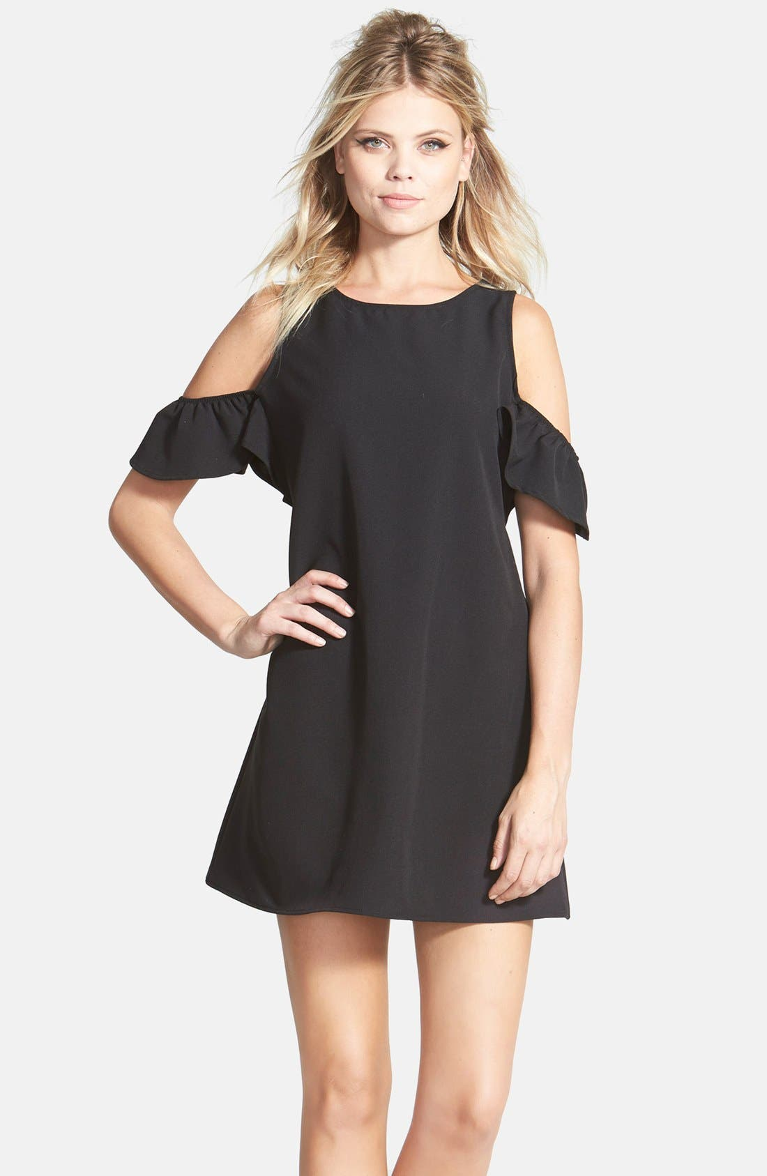 Main Image - June & Hudson Cold Shoulder Shift Dress