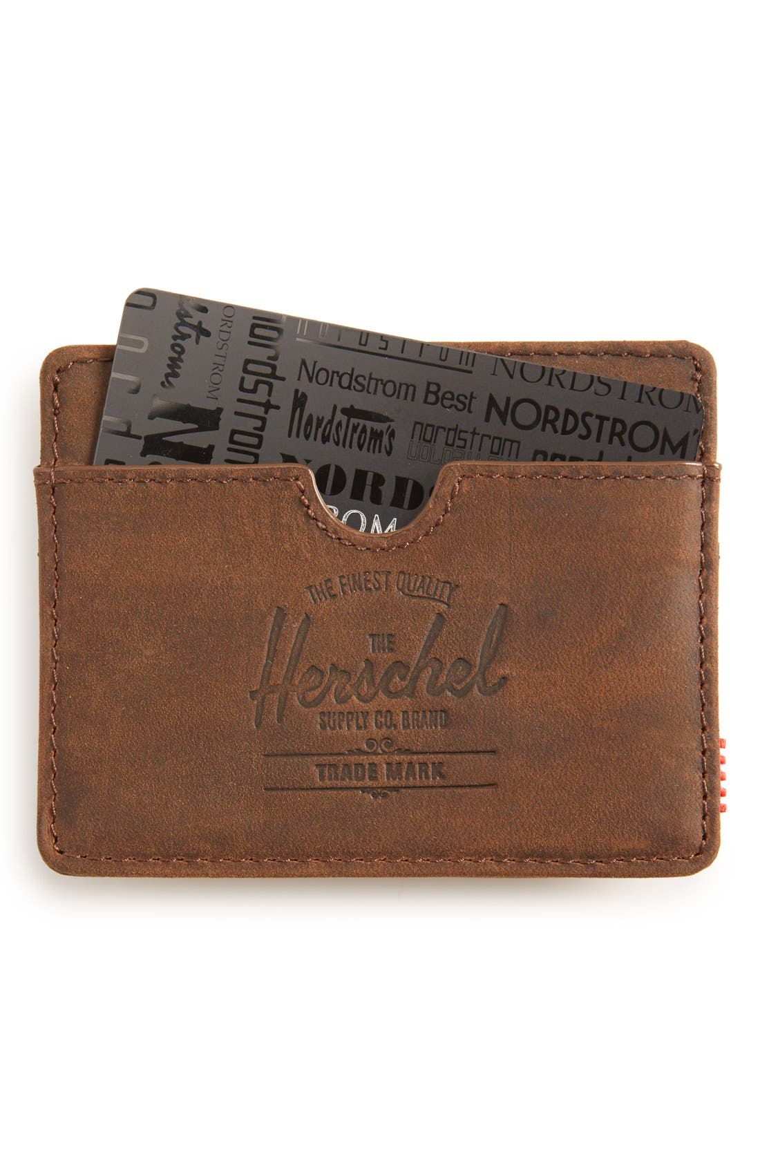 Alternate Image 1 Selected - Herschel Supply Co. 'Charlie' Leather Card Case