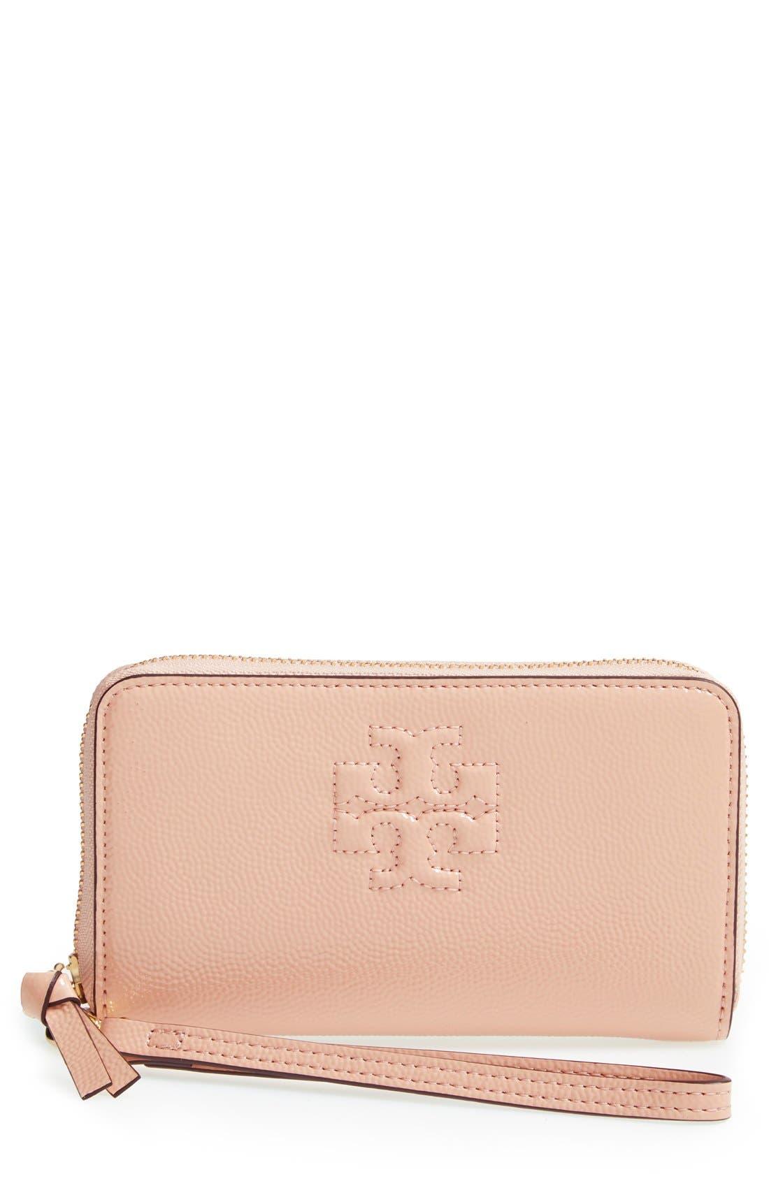 Main Image - Tory Burch 'Thea' Smartphone Wristlet Wallet