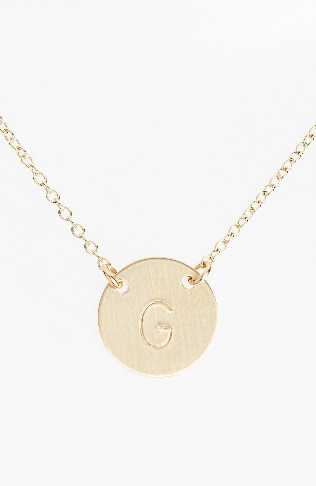 Main Image - Nashelle 14k-Gold Fill Anchored Initial Disc Necklace