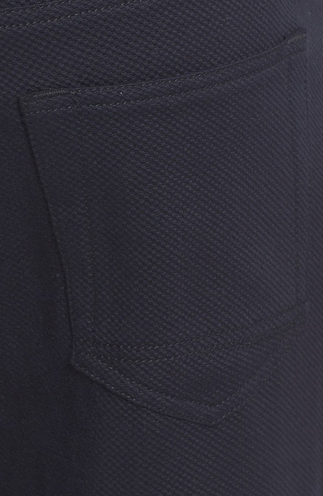 Straight Leg Five Pocket Stretch Pants,                             Alternate thumbnail 3, color,                             Black Crosshatch