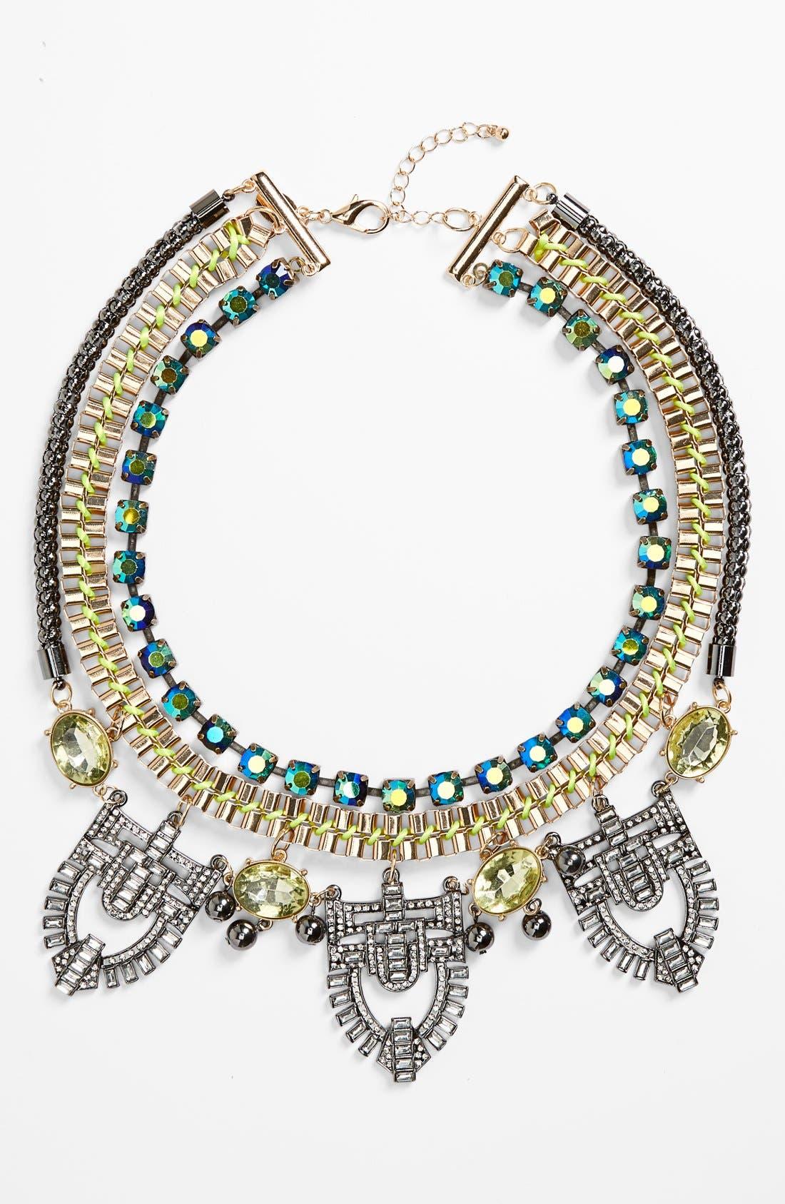 Main Image - Berry Art Deco Layered Bib Necklace
