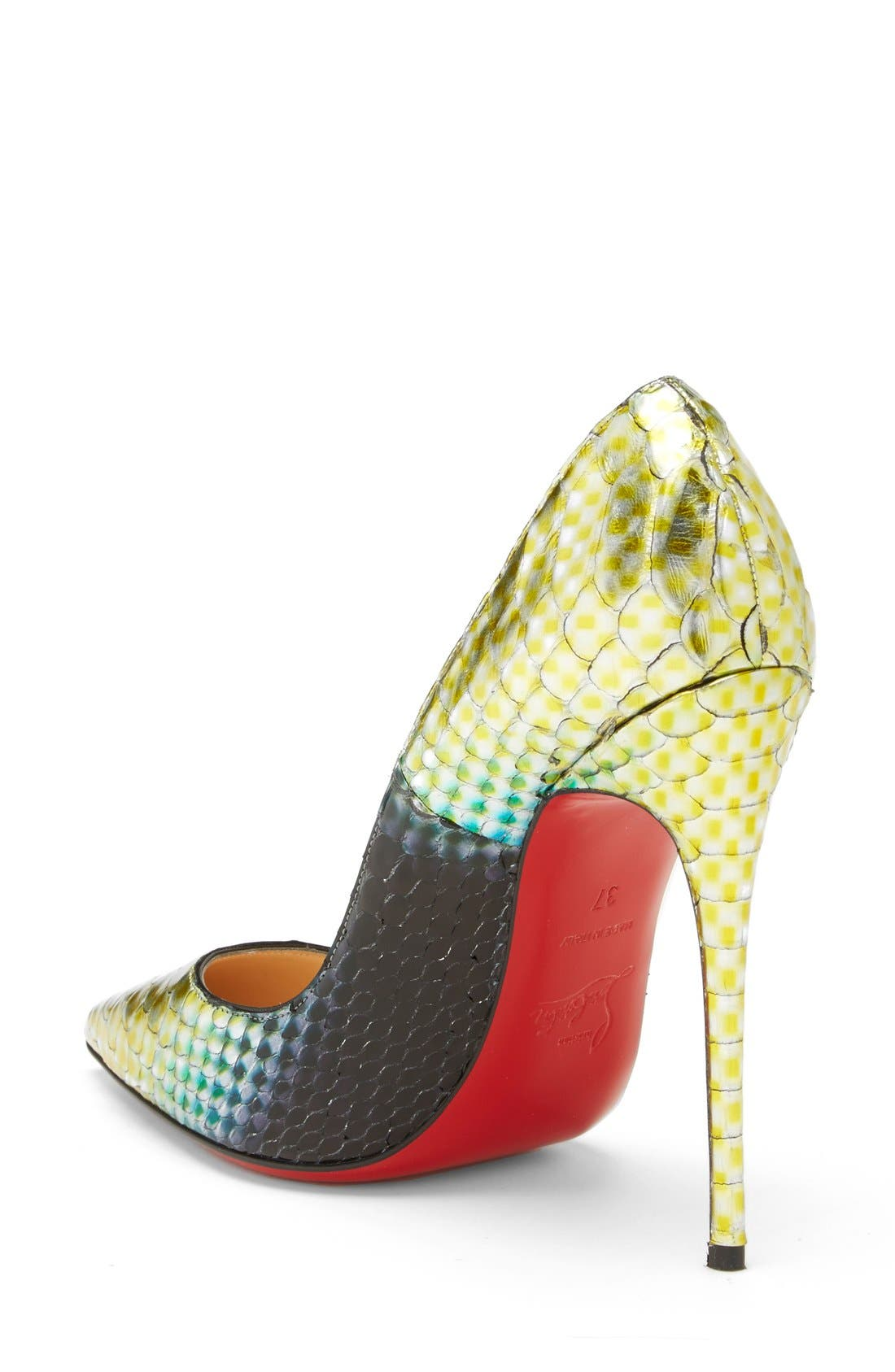 Alternate Image 2  - Christian Louboutin 'So Kate' Painted Genuine Python Pointy Toe Pump