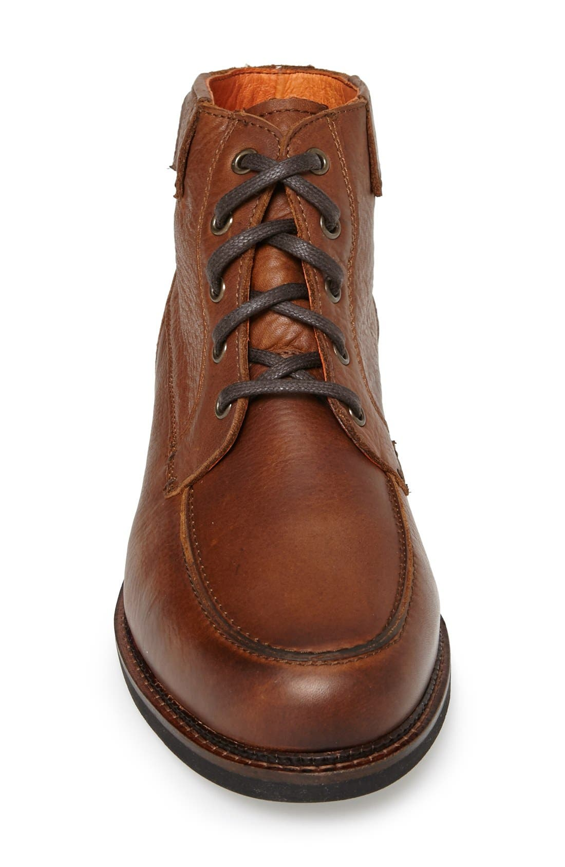 'Alpine' Moc Toe Boot,                             Alternate thumbnail 3, color,                             Worn Saddle