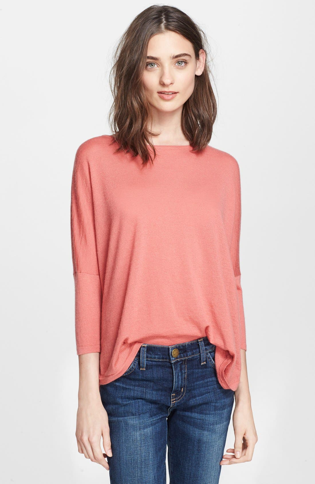 Main Image - autumn cashmere Drop Shoulder Asymmetrical Cashmere Sweater
