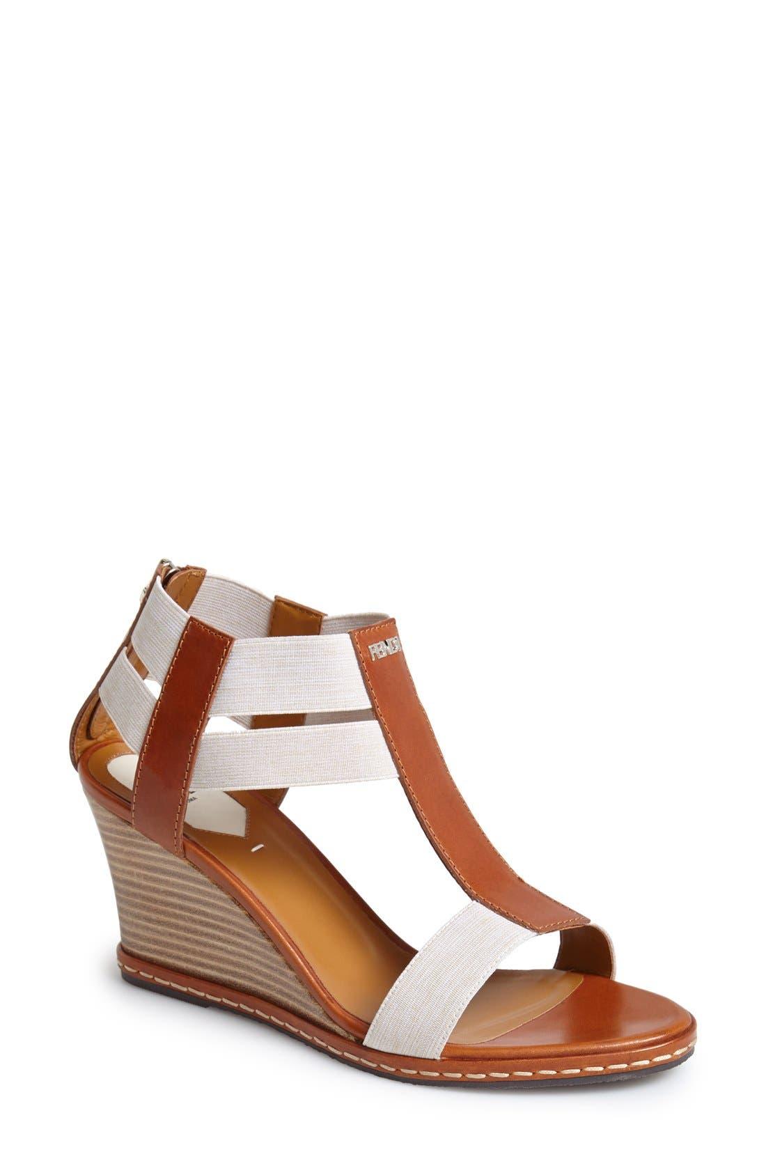 Alternate Image 1 Selected - Fendi 'Carioca' Wedge Sandal (Women)
