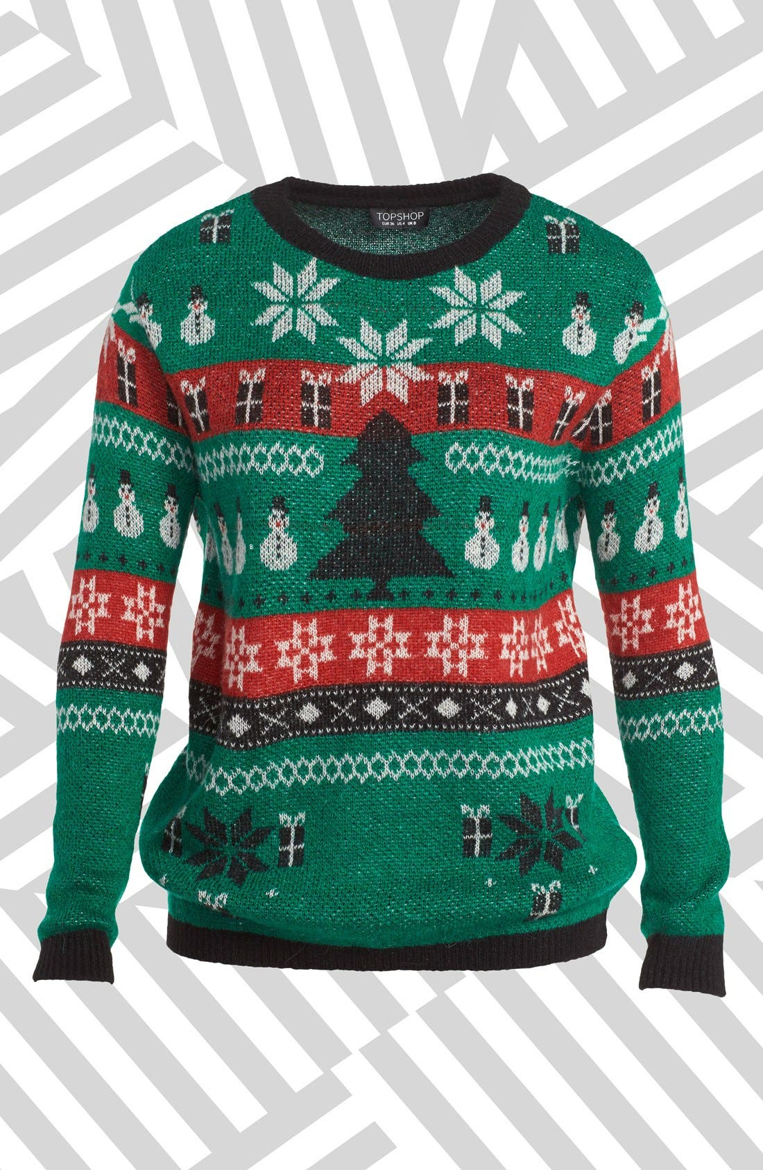 Alternate Image 1 Selected - Topshop Fair Isle Christmas Sweater