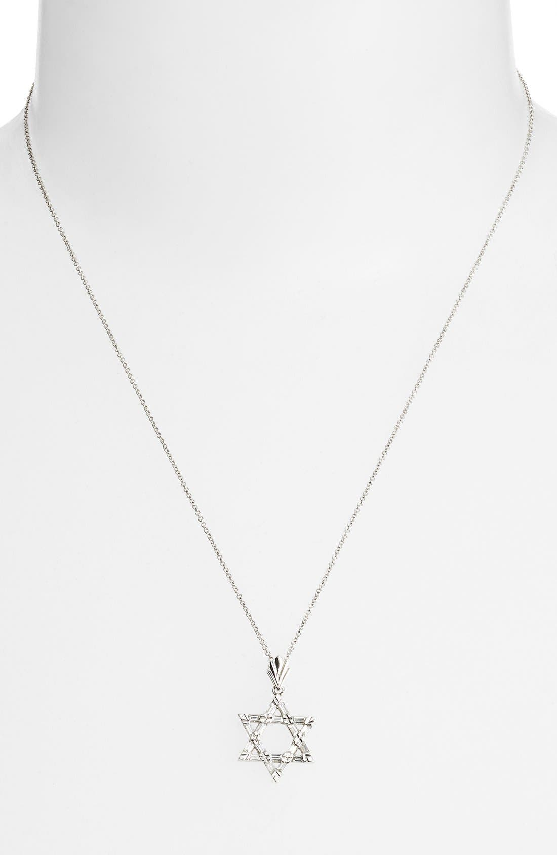 Main Image - Bony Levy Diamond Star of David Pendant Necklace (Nordstrom Exclusive)