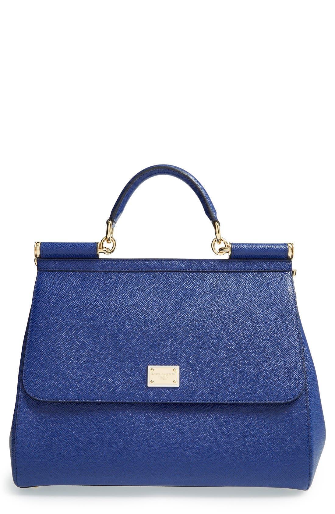 'Miss Sicily' Satchel,                         Main,                         color, Blu China