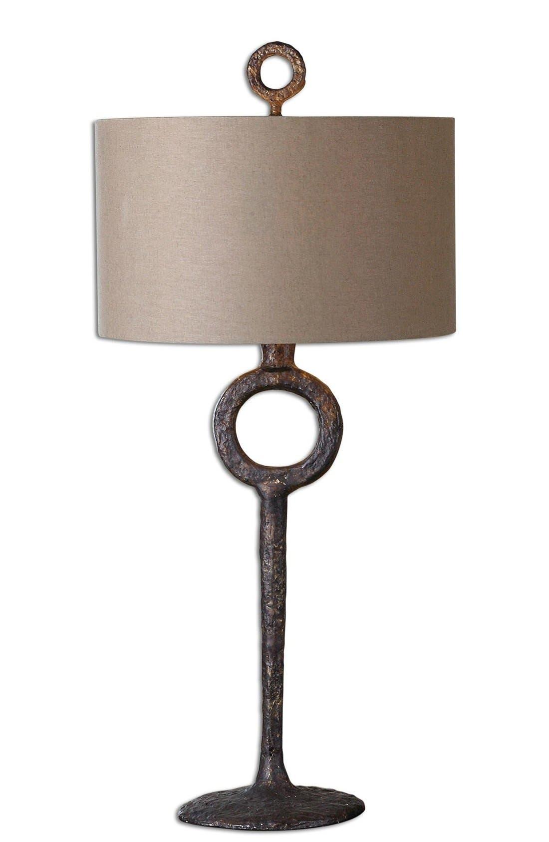 'Ferro' Cast Iron Table Lamp,                         Main,                         color, Brown