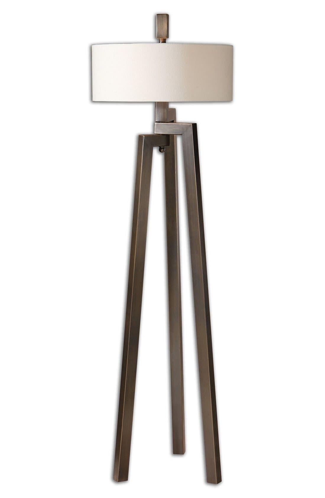 'Mondovi' Hand Forged Metal Floor Lamp,                         Main,                         color, Brown