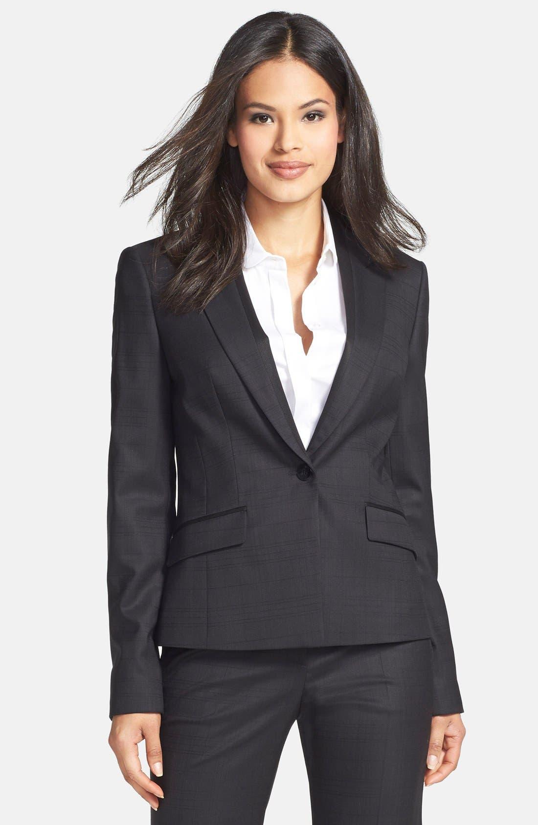 Boss Juleila Check Print Suiting Jacket Nordstrom