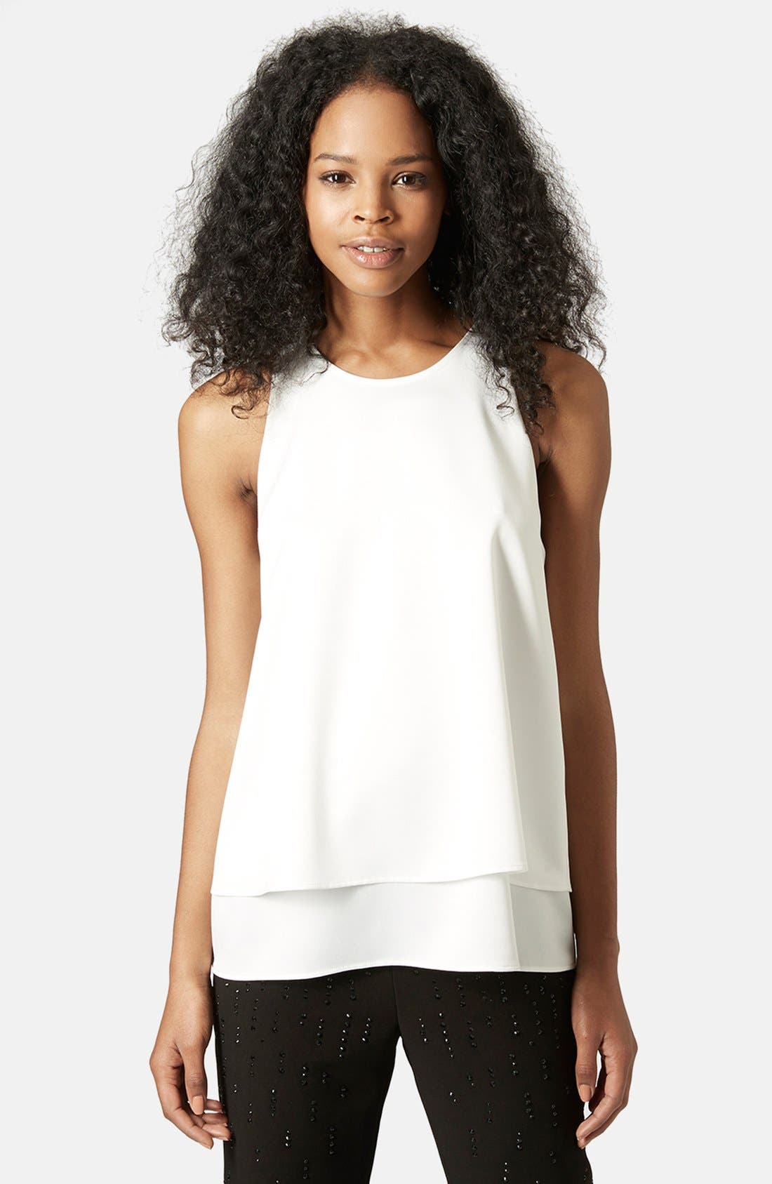 Alternate Image 1 Selected - Topshop 'Nord Lily' Layered Split Back Tank