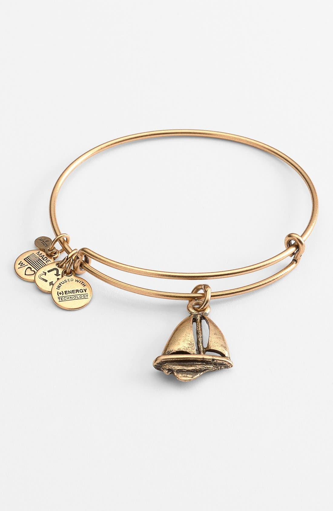 Alternate Image 1 Selected - Alex and Ani Sailboat Expandable Wire Bangle