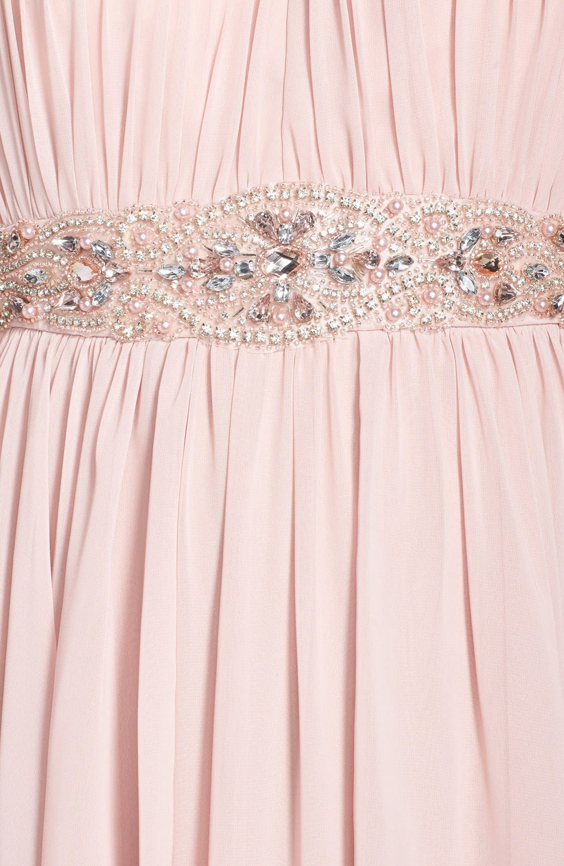 Alternate Image 3  - Eliza J Embellished Chiffon Gown (Petite)