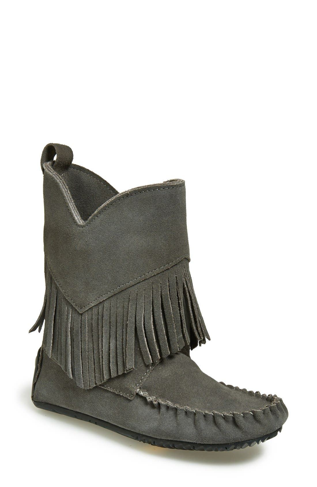 'Okotoks' Suede Boot,                         Main,                         color, Charcoal