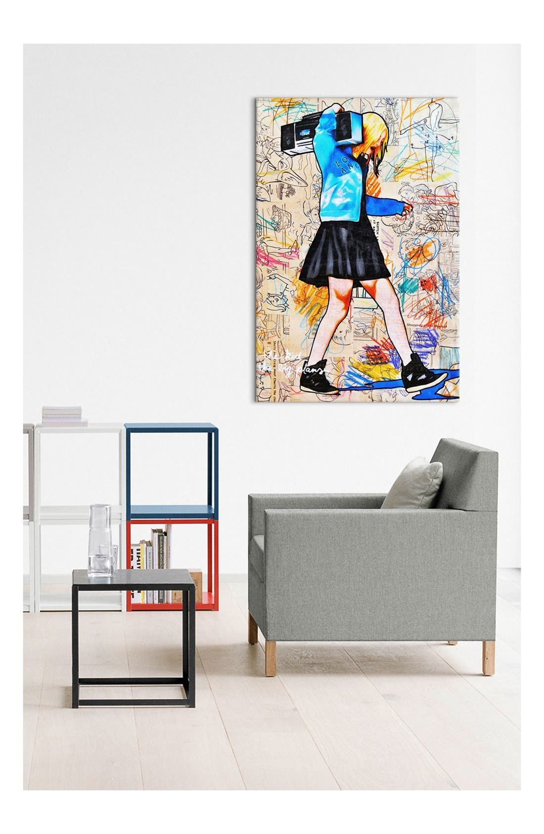 Alternate Image 2  - iCanvas 'I'll Be the Kid with the Big Plans - Annie Terrazzo' Giclée Print Canvas Art