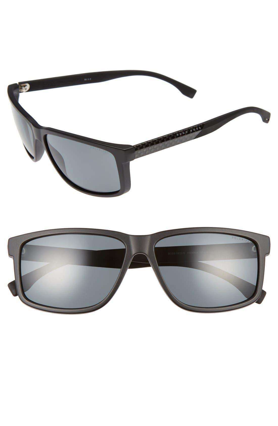 BOSS 60mm Polarized Sunglasses