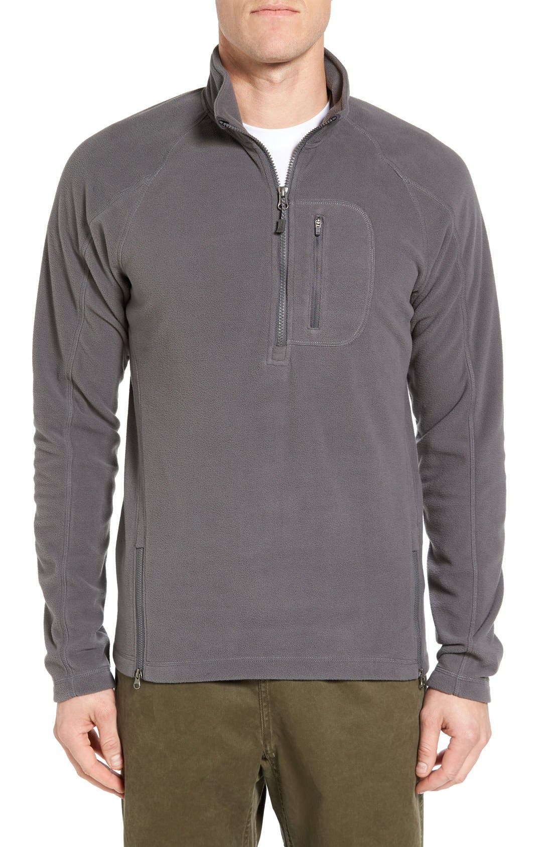 Alternate Image 1 Selected - Gramicci Utility Quarter Zip Fleece Sweater