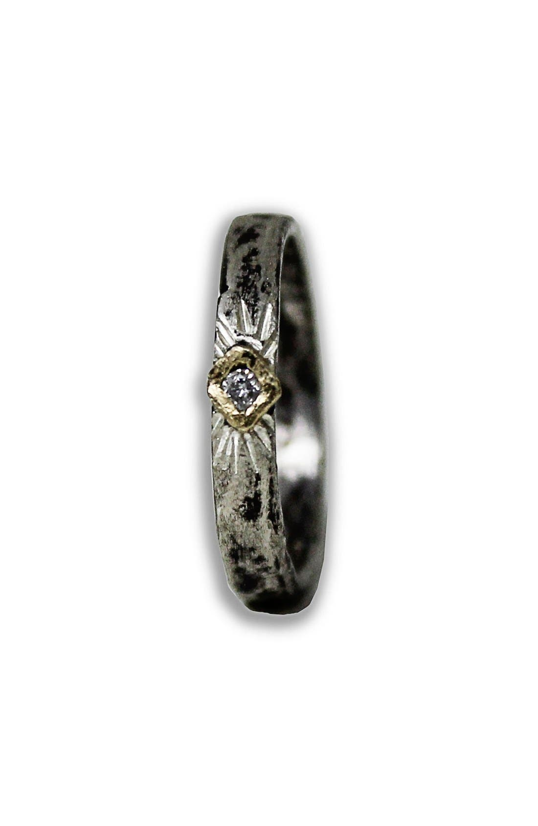 Diamond Stacker Ring,                         Main,                         color, Bronze Diamond