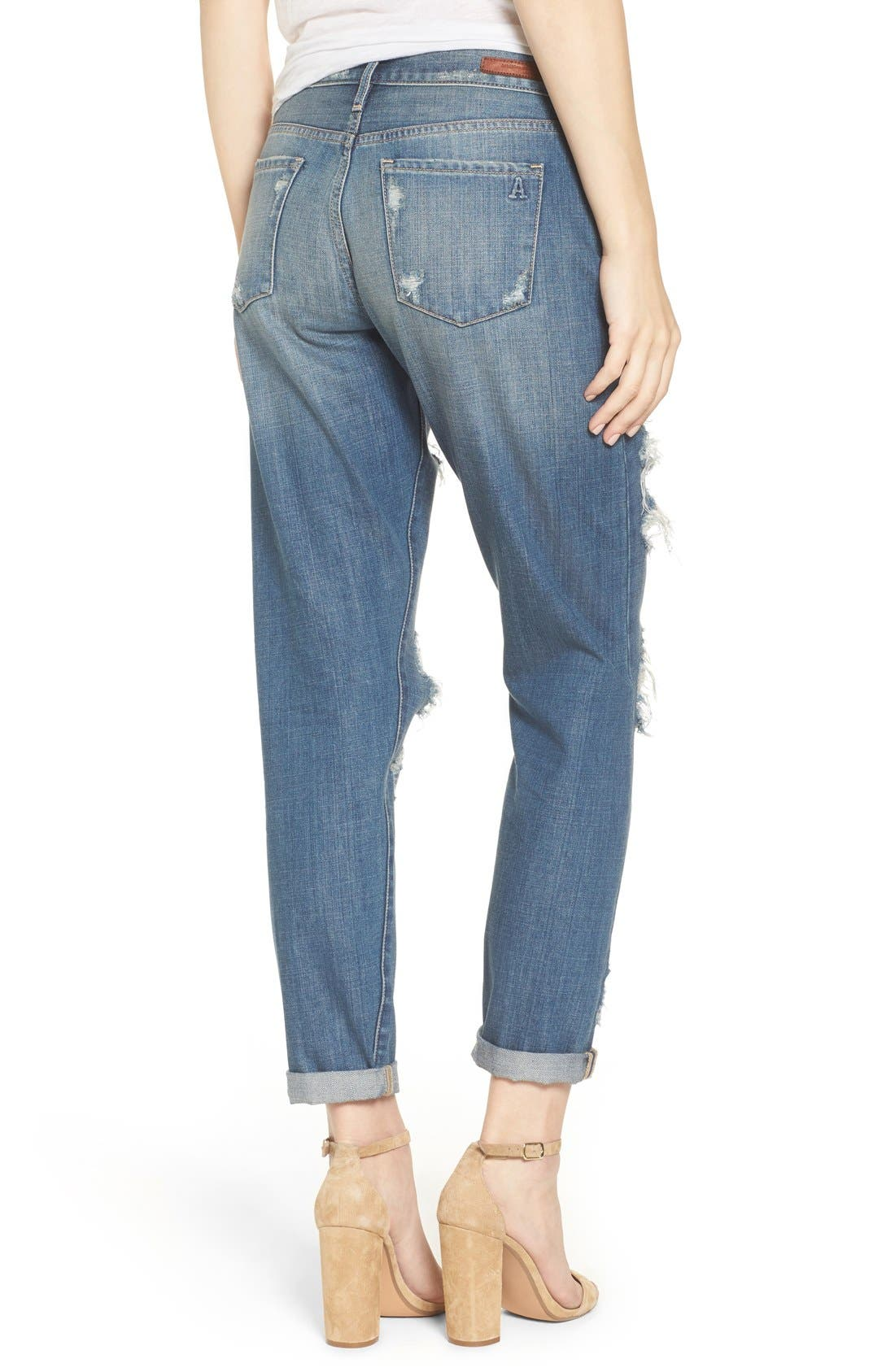 Alternate Image 2  - Articles of Society Janis Ripped Boyfriend Jeans (Fisk)