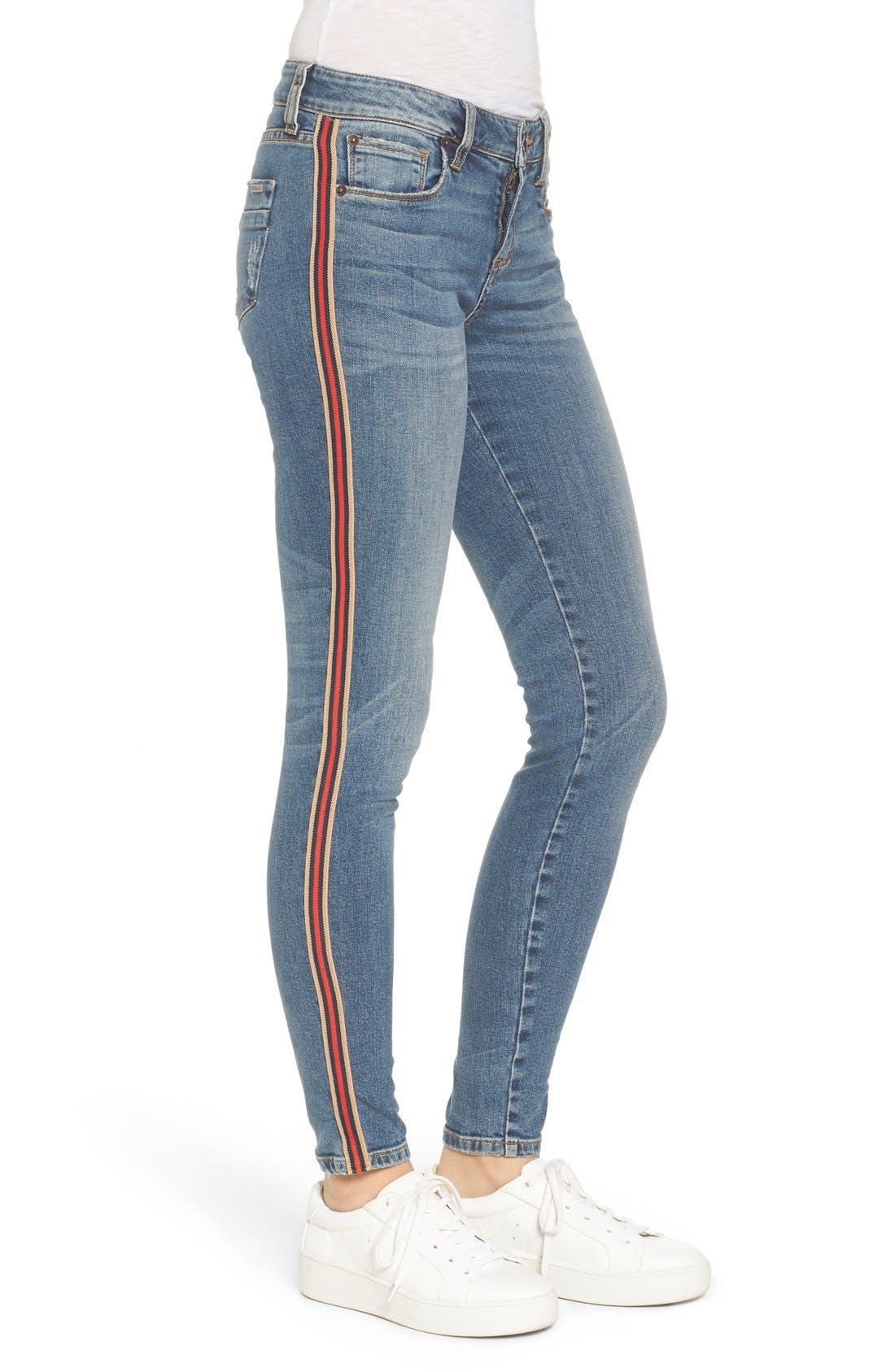 Alternate Image 4  - STS Blue Piper Athletic Stripe Skinny Jeans (West Oakville)
