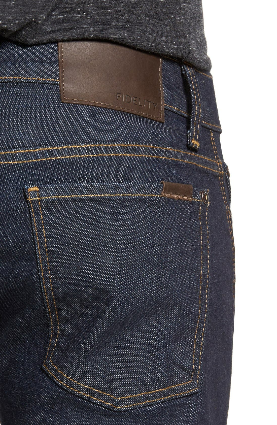 Alternate Image 4  - Fidelity Denim Vantage Skinny Fit Jeans (Halo Rinse)