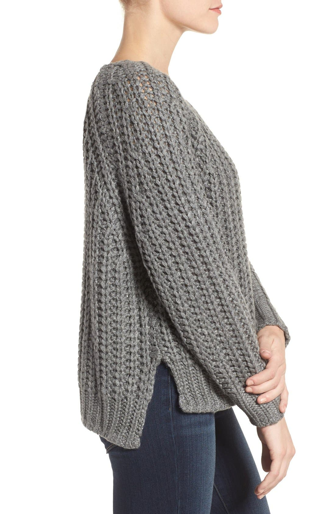 Page Sweater,                             Alternate thumbnail 3, color,                             Grey