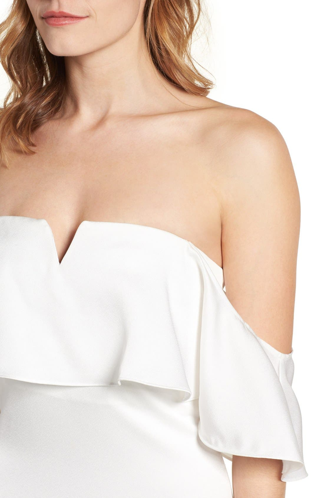 The Santa Barbara Off the Shoulder Gown,                             Alternate thumbnail 5, color,                             White